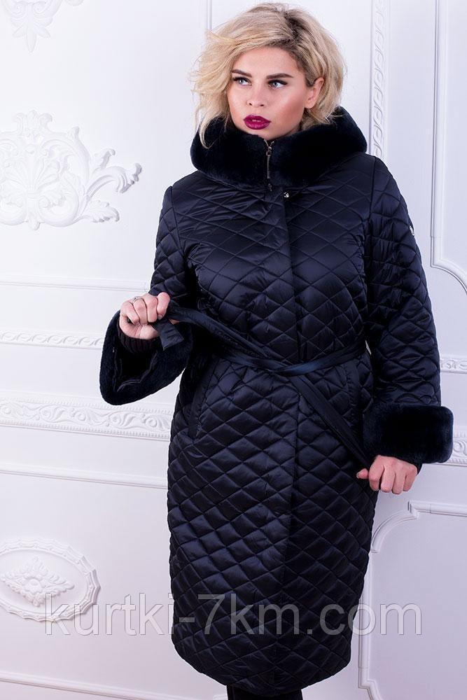7d1177881fc3 Красивый женский пуховик большого размера с мехом №1772: продажа, цена в  Одессе.