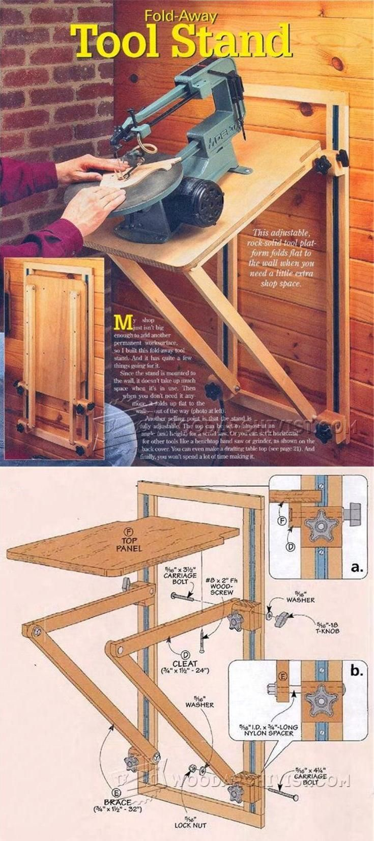 Scroll Saw Stand Plans - Scroll Saw Tips, Jigs and Fixtures | WoodArchivist.com