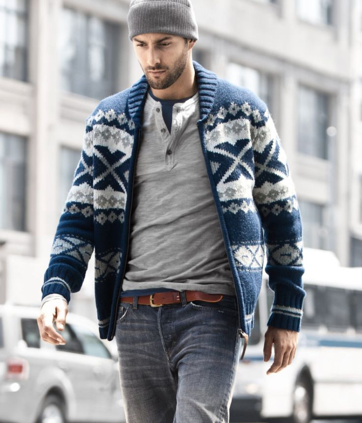 henleyStylish Man, Winter Layered, Men Clothing, Guys Style, Men Style, Men Fashion, Winter Sweaters, Fair Isle, Winter Chic