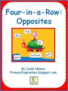 Classroom Freebies Too: Four-in-a-Row Opposites Game