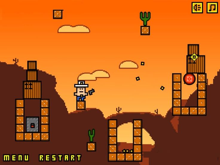 Cuboy Quest is a funny #Puzzle platformer from Yury Grigoryev. Can you help Cuboy to complete his mission being to move through different landscapes by shooting targets along the way and unlocking all the doors?