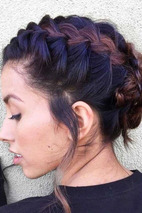 French Braid Short Hair Liked On Polyvore Featuring Accessories Hair Accessories And Short Hair Accessor Short Hair Styles Braids For Short Hair Hair Styles