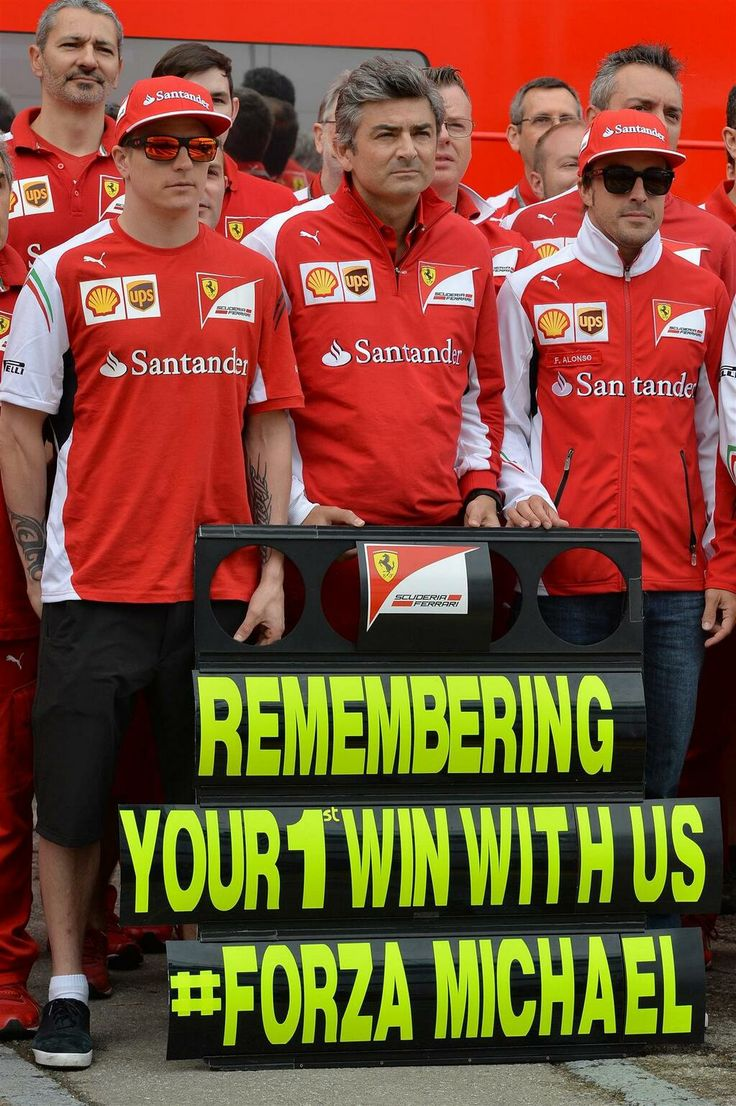 2014 Spain GP: Ferrari REMEMBERING YOUR1 WIN WITH US #FORZAMICHAEL