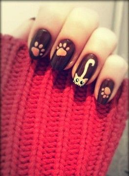 MEOW! 40 Kitty Cat Nail Designs