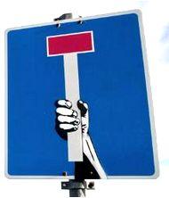 Panneau impasse détourné : #panneau #impasse #detourne #route #signalisation…