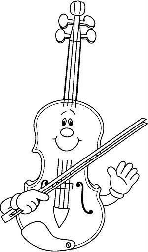 fiddle coloring pages - photo#16
