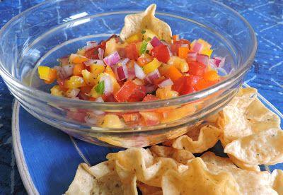 Jolene's Recipe Journal: Pineapple salsa- perfect snack for this super hot summer!