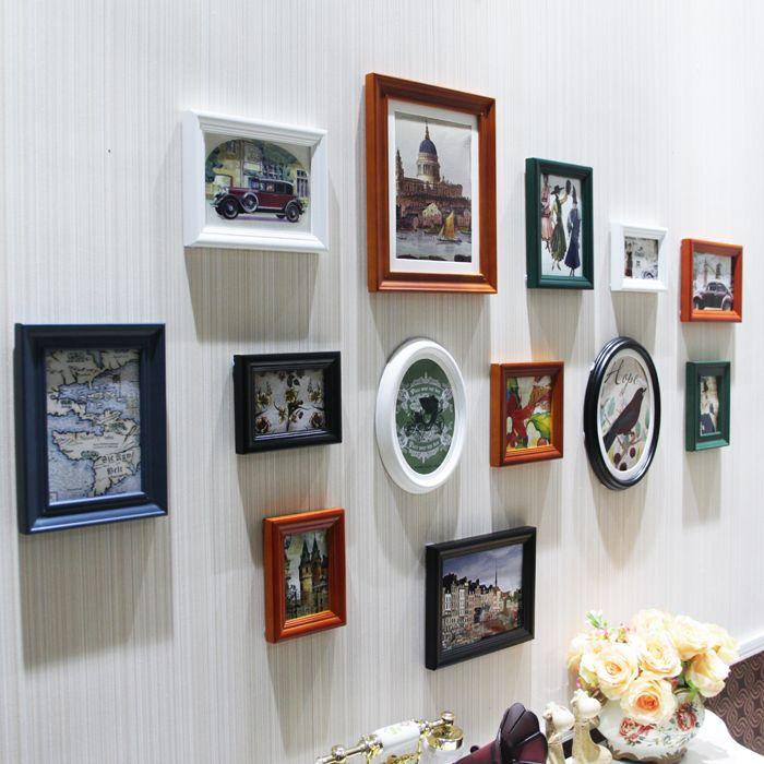 13 adet/takım Modern Sanat Aşk Aile duvar dekorasyon antika fotoğraf çerçevesi adet promosyon fiyat Fotoğraf çerçevesi çocuk için(China (Mainland))
