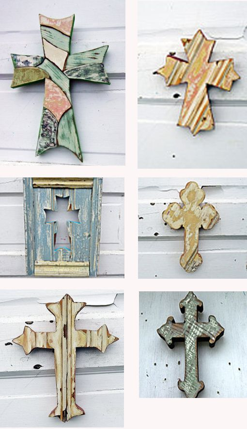 crosses made from reclaimed wood on woodenaht on Etsy
