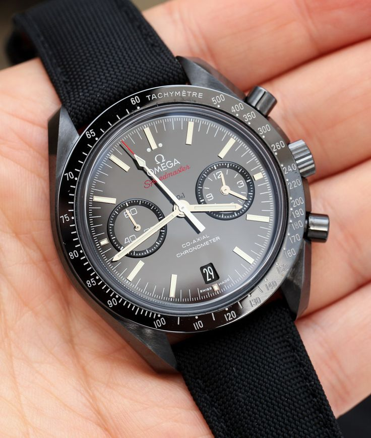 Omega Speedmaster Co-Axial Chronograph Dark Side Of The Moon Black Ceramic Watch Review
