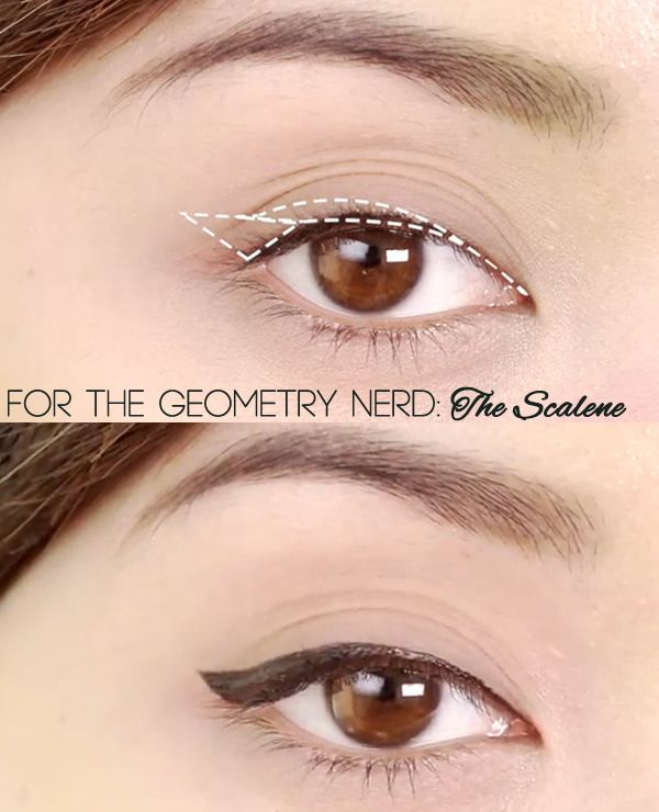 How to look like a human when applying eyeliner.