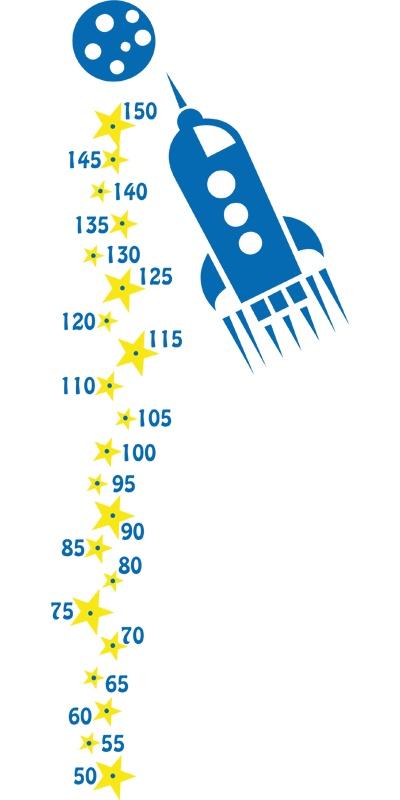#Cohete, #vinilo infantil #medidor