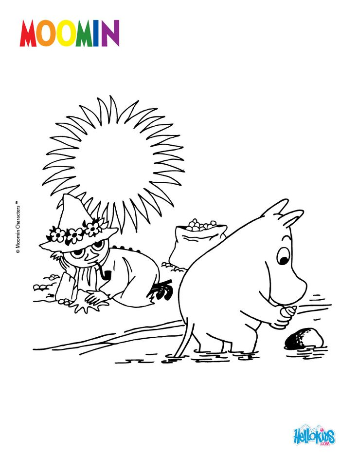 MOOMIN IN THE VALLEY coloring page