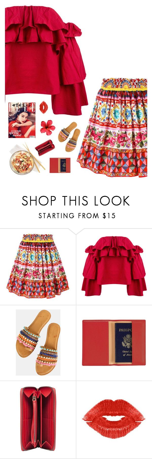 """""""Red"""" by genesis129 on Polyvore featuring Dolce&Gabbana, Erika Cavallini Semi-Couture, Royce Leather, Balenciaga, Manic Panic NYC and vintage"""