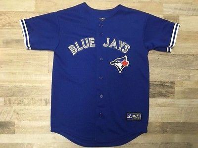 Toronto Blue Jays MLB Baseball Jersey Majestic Size L | eBay