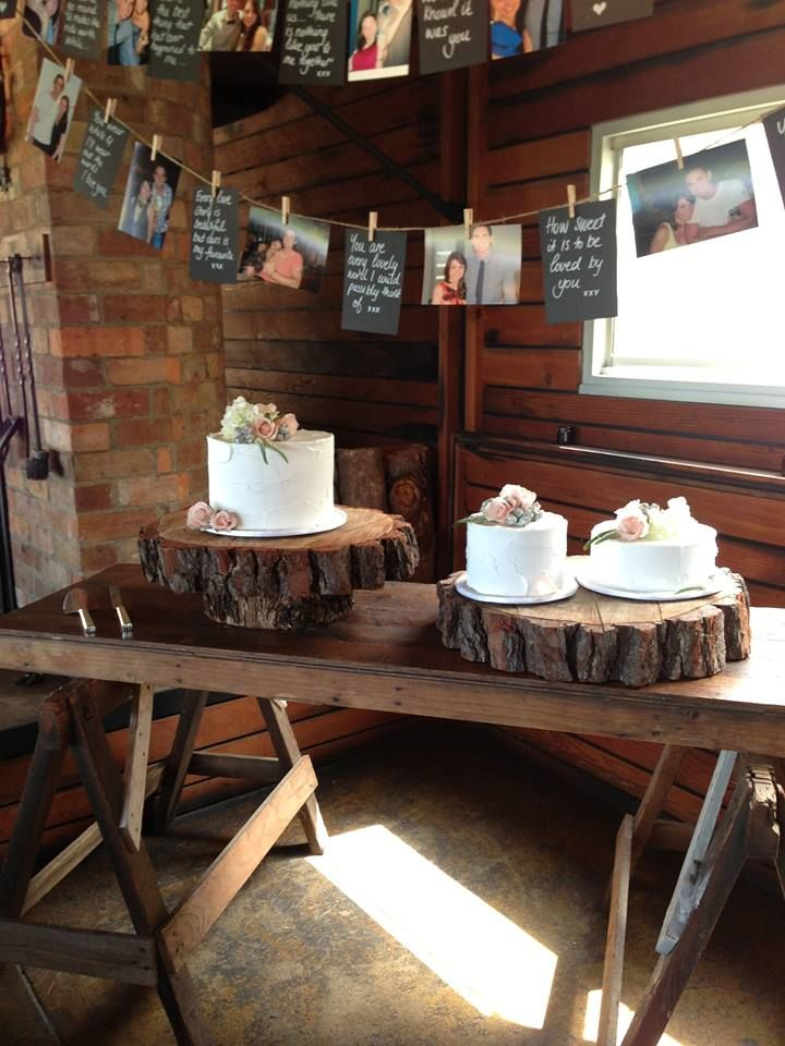 Rustic Cake Table @Tracy Stewart Stewart Stewart Stewart Ladner