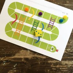 Kids favourite board game! Snakes & ladders. Download the free printable & have fun! (in Greek)