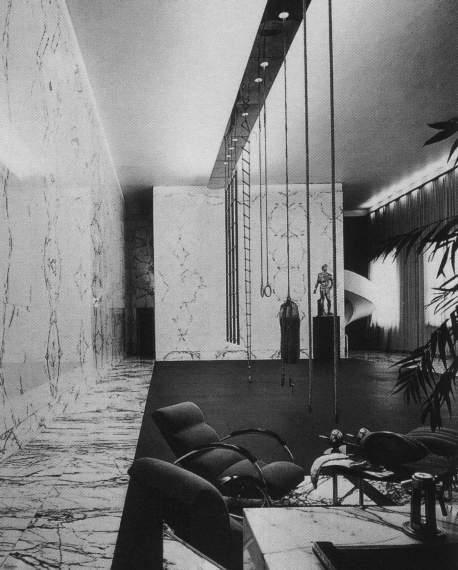 IT, Roma, ex-Palestra del Duce al Foro Italico. Architect Luigi Moretti, 1937.