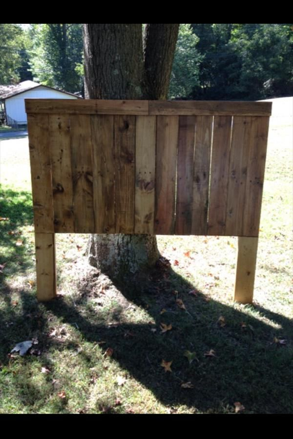 DIY Pallet Queen Size Headboard | Pallet Furniture DIY
