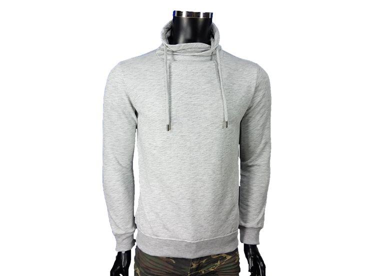 Bluza męska komin - Szare - Bluzy męskie - Awii, Odzież męska, Ubrania męskie, Dla mężczyzn, Sklep internetowy