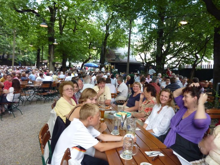 We gathered with quite a few of our relatives at the Augustiner Bier Garten in Munich, July 2010