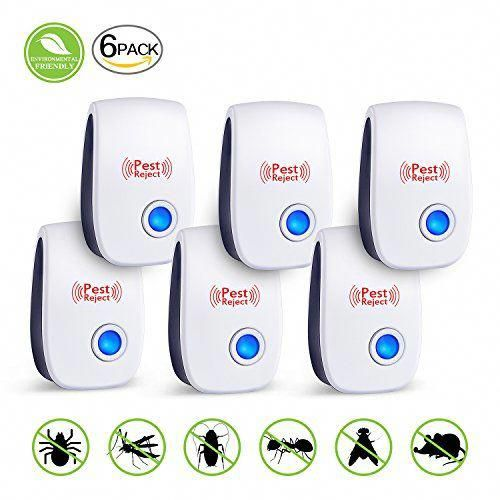 6Pack Ultrasonic Pest Repeller Control Electronic Repellent Mice Rat Reject New
