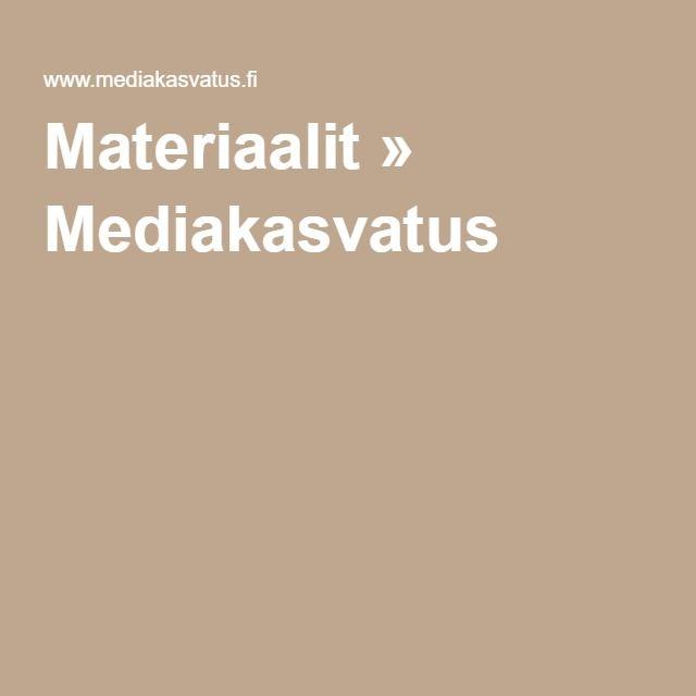 Materiaalit » Mediakasvatus