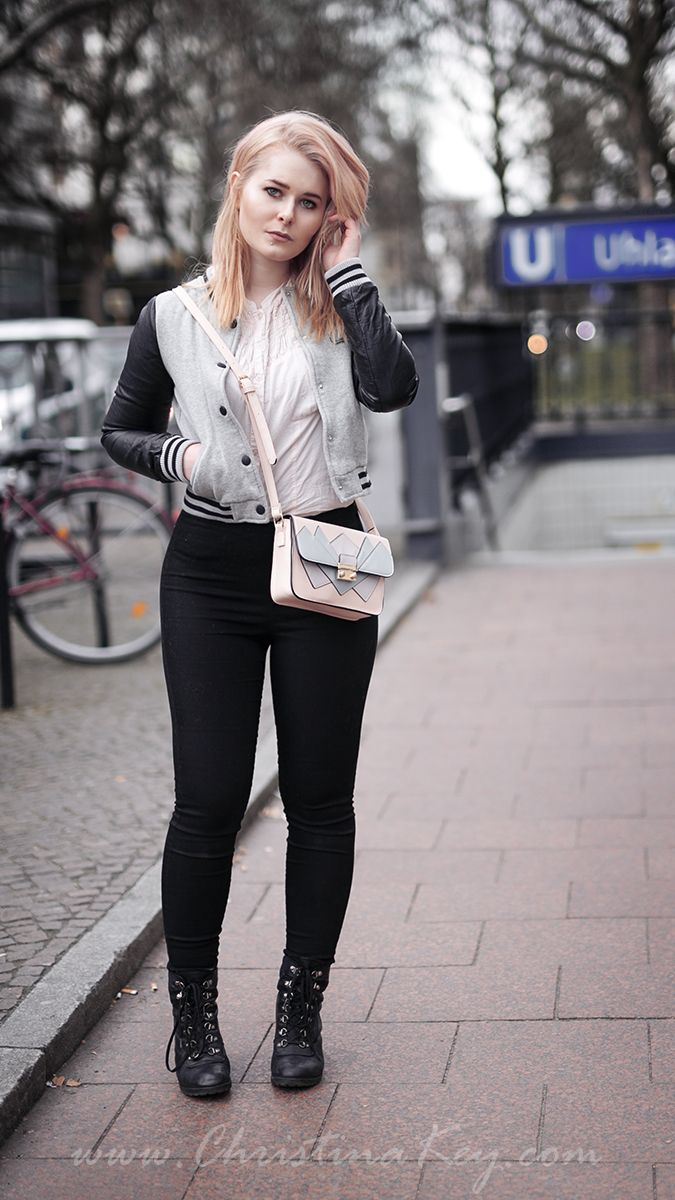 college jacke damen outfit