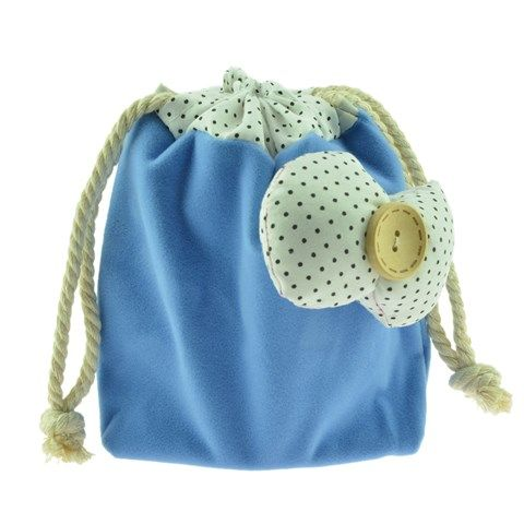 Woman's Cute Buttlerfly bow-decorated Coin Purse Bag - Blue