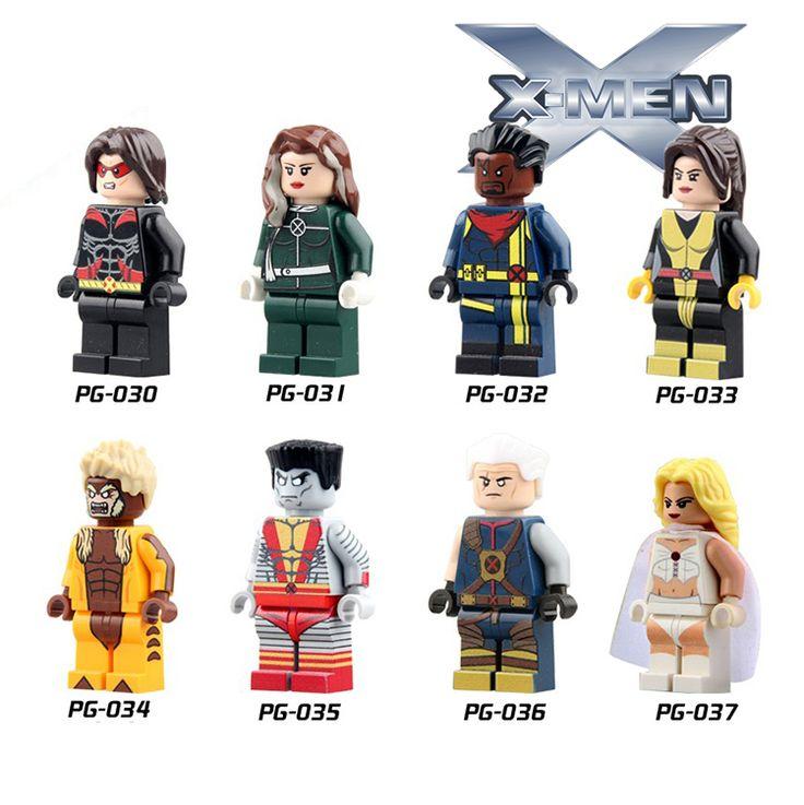Одноместный Salet Marvel X-Men Minifigures Белая Королева Епископ Саблезубый Китти Прайд Кабель Тропу Войны Строительные Блоки Игрушки #men, #hats, #watches, #belts, #fashion, #style