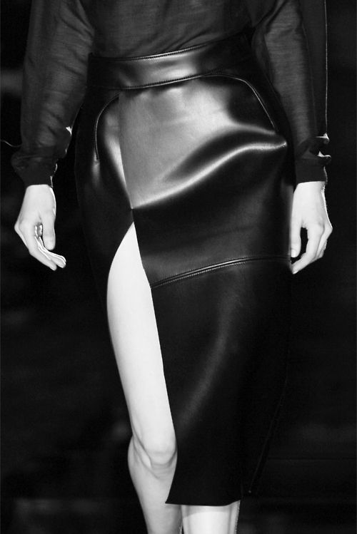 leather skirt. wow.