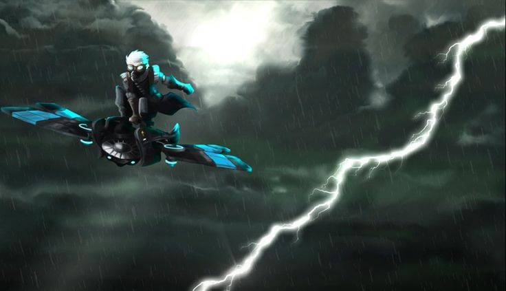 Screenshot of lightning strike from The Immortal Storm trailer.