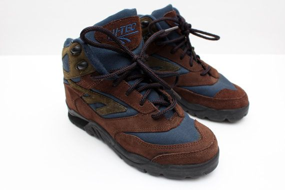 "Rare 90's Vintage ""HI-TEC"" Hiking Boots Sz: 5.5 (Women's Exclusive)"