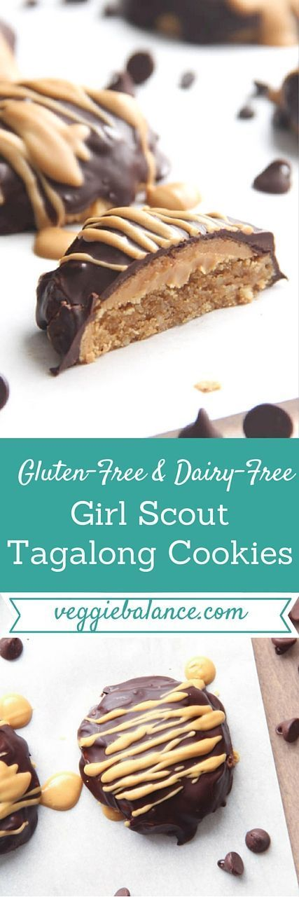 Gluten-Free Girl Scout Cookies Tagalongs Copycat Recipe. Low-carb peanut butter cookie with gooey peanut butter center and chocolate…