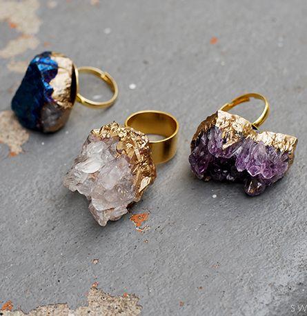 DIY Geode rings