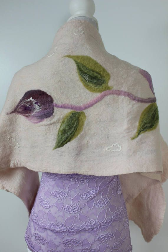 Check out this item in my Etsy shop https://www.etsy.com/ca/listing/555120477/romance-felted-shawl