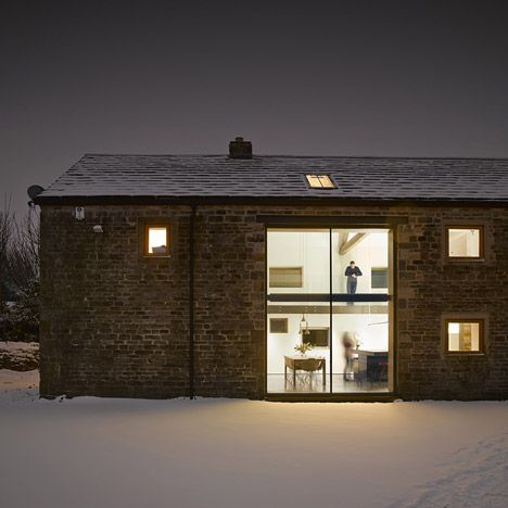 Old Yorkshire barn converted into a<br /> modern home by Snook Architects