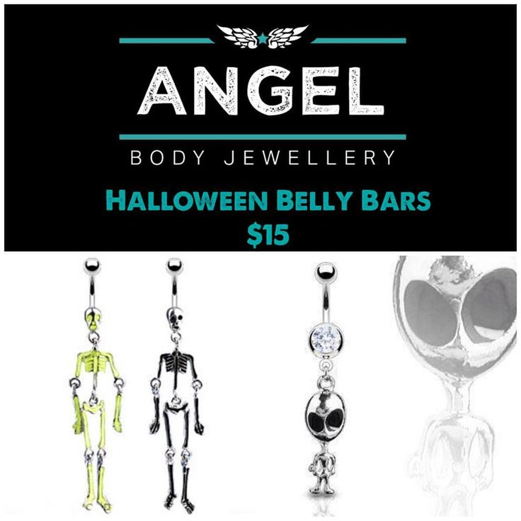 "6 Likes, 1 Comments - Angel Body Jewellery (@angelbodyjewellery) on Instagram: ""These spooktacular Belly bars are on sale for only $15 each #angelbodyjewellery #perthsmallbusiness…"""
