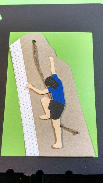 Einladungskarten - Einladung Kindergeburtstag KLETTERN Junge - ein Designerstück von Lingschmetter bei DaWanda