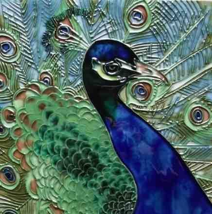 103 Best Images About Peacock Tiles On Pinterest