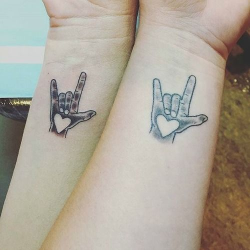 If you and your mother share a love of all things music, get matching tattoos to show your love of rock and of each other.