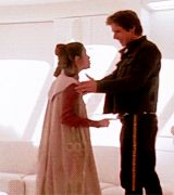 Han and Leia • Star Wars: The Empire Strikes Back • their height difference though ❤️