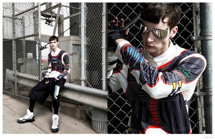 Corentin Renault Rocks Marc by Marc Jacobs Fall 2014 Motocross Fashions for Visual Tales image Corentin Renault Marc by Marc Jacobs Fall Winter 2014 Fashion Photo Shoot Visual Tales 006