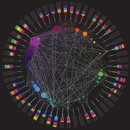 Flickr Tag Mapping / Networked Learning #dataviz #graph #network
