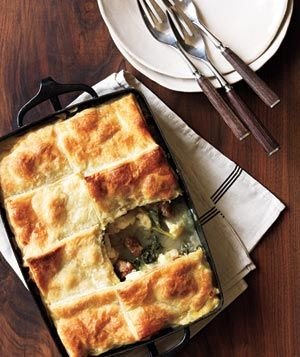 Sausage, Cauliflower, and Kale Potpie | Get the recipe: www.realsimple.co...