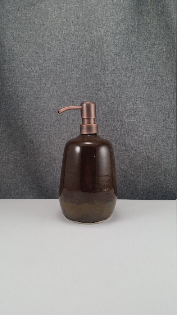 IN STOCK Ceramic Soap Dispenser Handmade Pottery by 3PointsArtwork