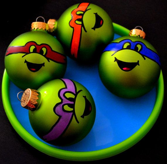 TMNT Ninja Turtle Ornaments Christmas Gift Set by DreamAndCraft
