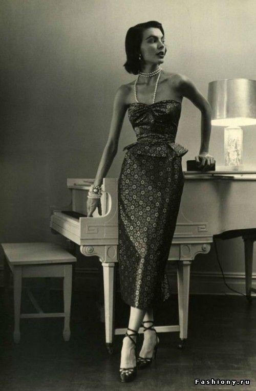 Мода 40-50-х годов на фото Нины Лин. Продолжение / мода 50 60 годов