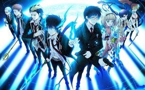 Wallpaper art, yuuno, yukioka, anime, blue exorcist, ao no exorcist