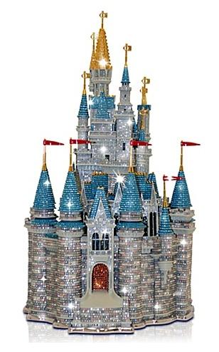 Limited Edition Walt Disney World Cinderella Castle Sculpture ($37,500!!!)...pretty sparkles though!